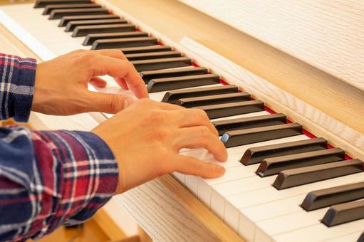 Piano practice (adult male)