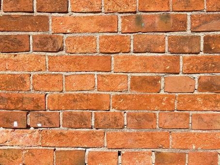 Fashionable red brick wall
