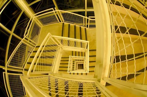 White spiral staircase 2