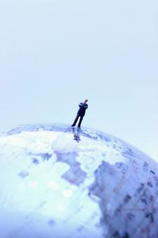 Miniature Businessman Globes 12