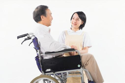 Male with nurse and wheelchair 7