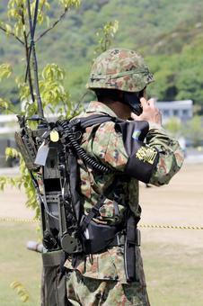 Self-Defense Forces wireless machine