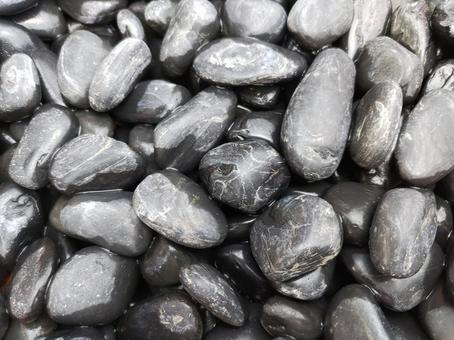 Black boulders