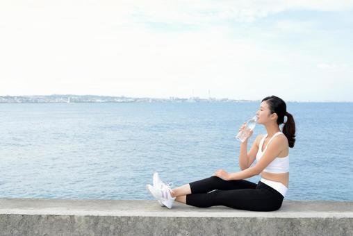 Women exercise break