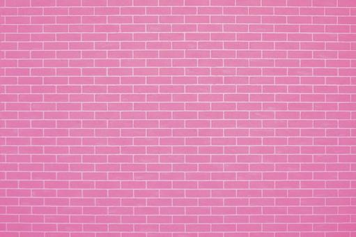 Pink brick tiles | Free background material for cute brick walls
