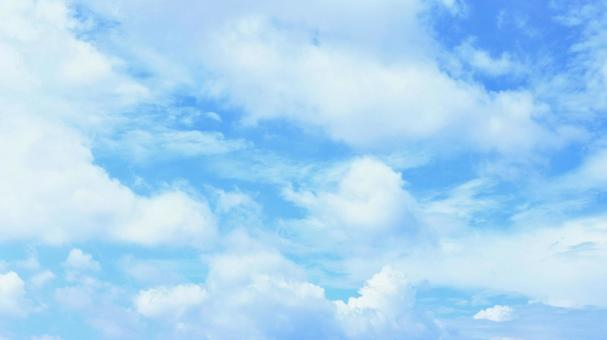 Beautiful sky image of clouds with beautiful blue and white