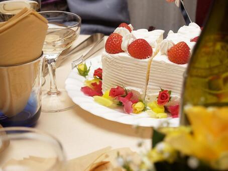 Wedding cake carved