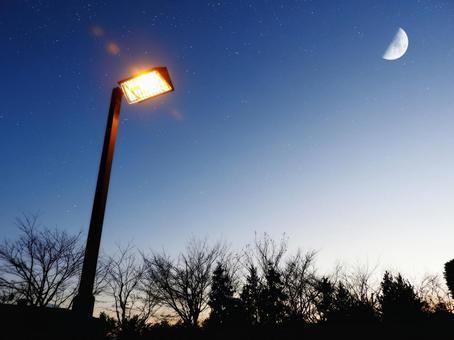 Night sky and street lights