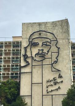 게바라, 혁명 광장, 아바나, 쿠바. 카리브.