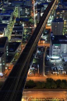 Hakodate main line seen from JR Tower 1