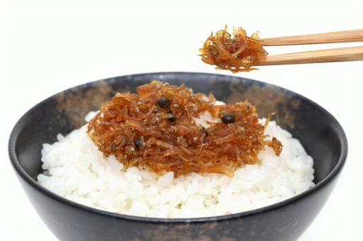 Chirimen boiled this boiled rice