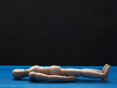 Mannequin in a lying pose