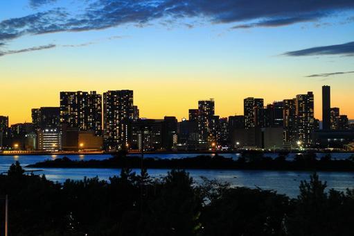 도쿄 오다이바의 야경