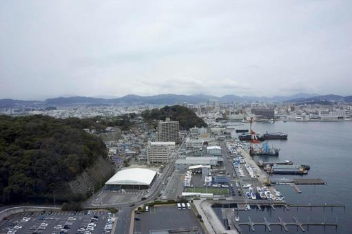 View of Hiroshima city from Ujina