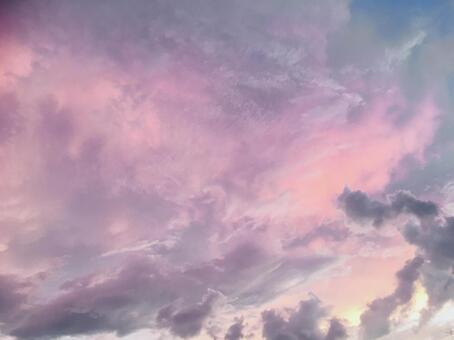 보라색 하늘 신비 환상적인 아름다운 배경