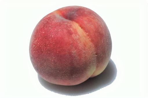 One peach white background