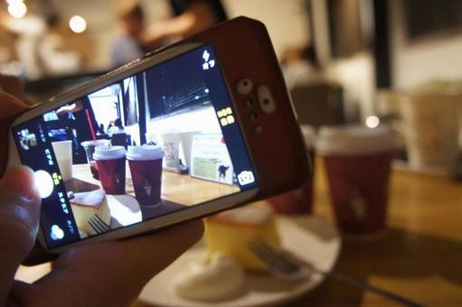 用智能手機拍攝(咖啡廳)