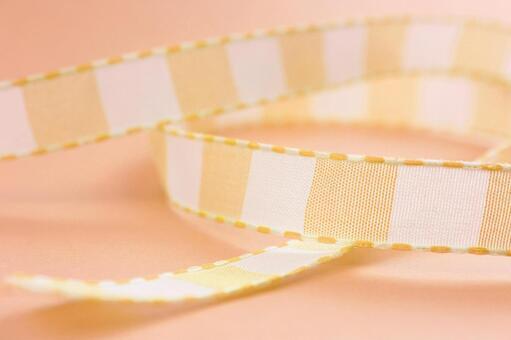 纹理条纹带橙丝带