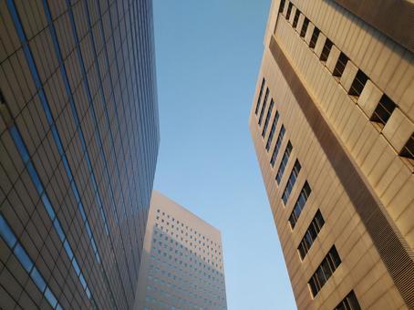 Urban buildings and blue sky 1