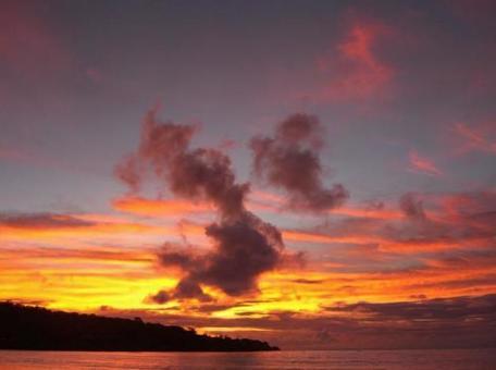 Sunset from Bali Jimbaran Beach 002