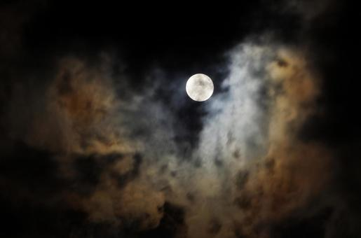 The moon of a night