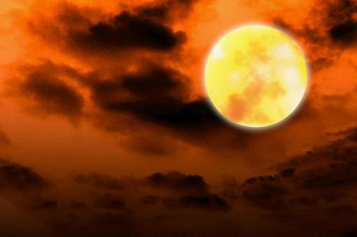 Brilliant full moon