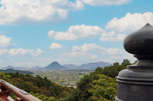 카가와 현 고토 히라 궁에서 바라 보는 讃岐平野