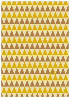 Scandinavian design yellow triangle