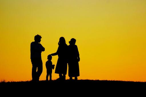 Two household family silhouette image 2