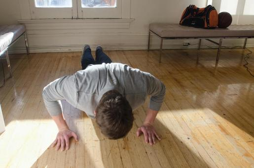 Male with pushups 1