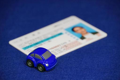 Driver's license blue minicar blue back