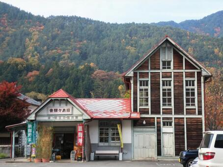 Former island station building _ fall