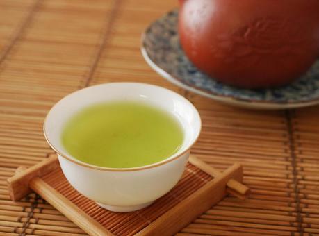 Beautifully colored Japanese tea