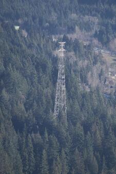 輸電塔不列顛哥倫比亞省加拿大