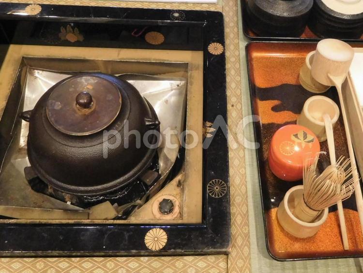 茶道具(抹茶を点てる)の写真