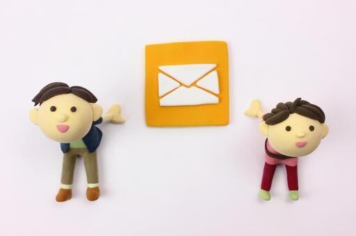 Clay Art Icon Mail 2