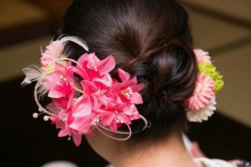 꽃 머리 장식