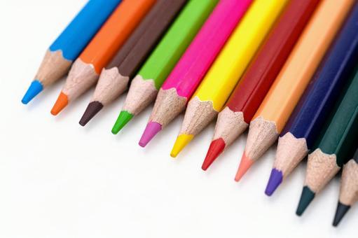 五顏六色的彩色鉛筆