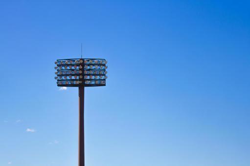 Stadium light illuminating the night