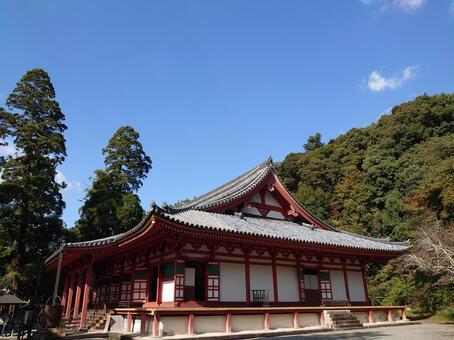 KanshinjiKondo和秋葉Takanoyama Shingon教派廢墟元山