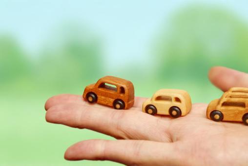 Wooden miniature car