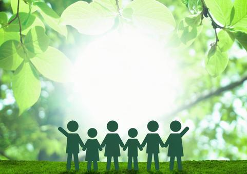 Children's education in the green Healthy