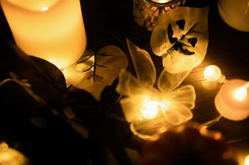 Halloween candle autumn