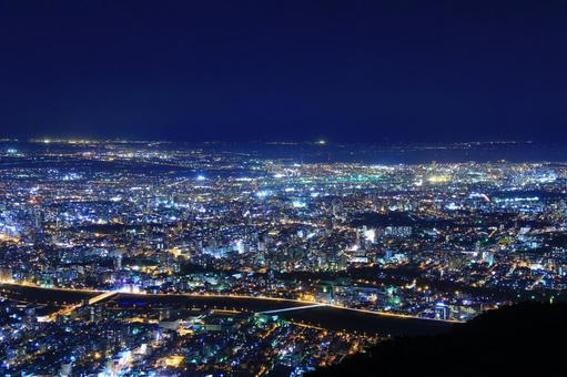 Night view of Mt. Moiwa