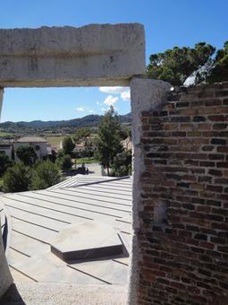 View from Colonia Guell Church