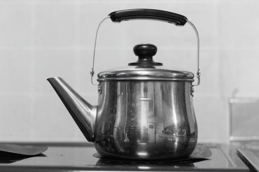 Kettle black and white