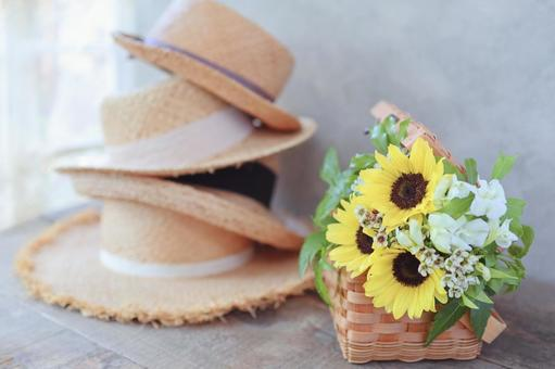 Hat and sunflower