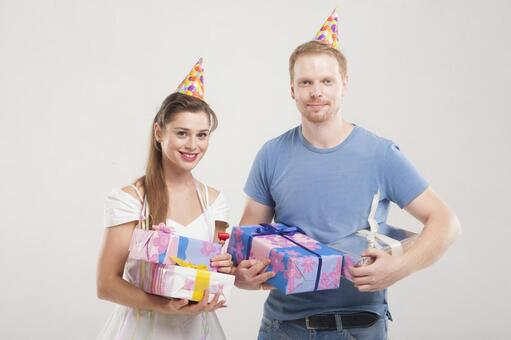 Couple making a party 1