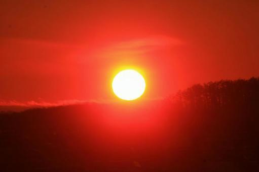 First sunrise in 2012