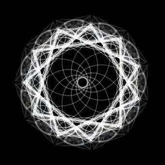 Mandala 078 monochrome